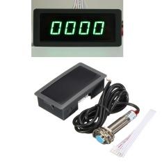 4 Digital Blue&Green LED Tachometer RPM Speed Meter + Proximity Switch Sensor 12V Green