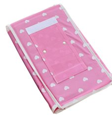 4 Layers 6 Pockets Wall Door Cloth Hanging Home Organizations Pink (Intl)