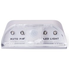 4 LED Motion Sensor LED Night Light PIR Auto Keyhole LED Sensor Doors Motion Detector Lamp (Silver) - Intl
