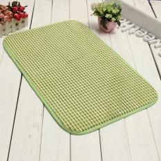 40*60cm Absorbent Memory Foam Bath Bathroom Floor Shower Mat Rug Non-slip Green