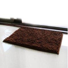 40*60cm Rectangle-shaped Water Absorbent Non-slip Soft Microfiber Chenille Floor Rug Mat Bath Mat Carpet (Coffee)