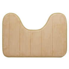 40 X 60cm U Shape Wide Style High Density Non-slip Bathroom Toilet Pedestal Lint Rug Carpet Floor Mat Camel - Intl