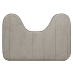 40 X 60cm U Shape Wide Style High Density Non-slip Bathroom Toilet Pedestal Lint Rug Carpet Floor Mat Khaki - Intl