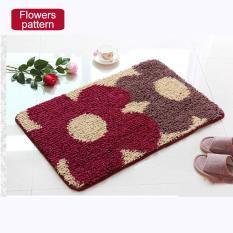 40x120cm Pattern Printed Bathroom Carpets Doormats Anti-Slip Polyester Floor Mat Pad For Living Room Bath Kitchen - Flower Pattern - Intl