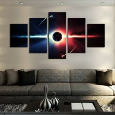 5 Pcs(No Frame) Large HD Abstract Planet Canvas Print Painting for Living Room, Wall Art Picture Gift,Printing On Canvas
