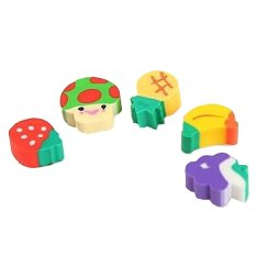 50 Pcs Cute Mini Fruit Rubber Pencil Eraser For Children Stationery Gift Toy