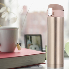500ml Stainless Steel Insulated Thermos Cup Coffee MugTravel Gold (Intl)