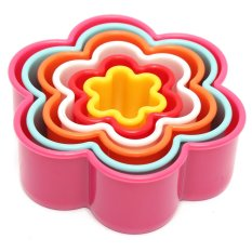 5Pcs Flower Shape DIY Cake Cookie Biscuit Pastry Cutter Mold Mould (Intl)