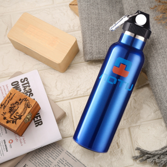 600ml Stainless Insulated Thermos Vacuum Cup Coffee Mug Travel Bottle Blue - Intl