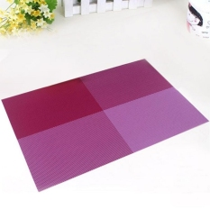 6pc Placemats Coasters Waterproof Insulation Mat Kitchen Dining Table (Purple) (Intl)