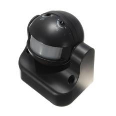 6pcs 180° White Or Black Occupancy Sensor PIR Motion Light Switch Wall Mounted 12M Black - Intl