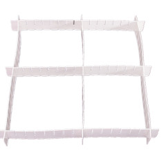 6x Adjustable Drawer Clapboard Partition Divider Cabinet DIY Storage Organizer - Intl