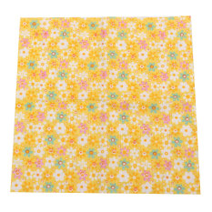 7x Square 25x25cm Assorted Pattern Floral Cotton Fabric Cloth DIY Crafts Sewing Yellow - Intl