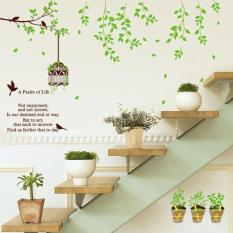 A Psalm of Life Quotes Bird Cage Tree Branches Leaves Living Room Wall .