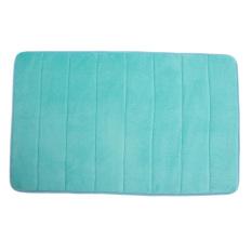 Absorbent Soft Memory Foam Mat Bath Bathroom Rug Shower Non-slip Floor Carpet Light Blue (Intl)