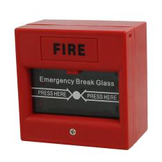AC 250V / 12V DC 12V Resettable Manual Call Point Fire Alarm Pull Station (Intl)