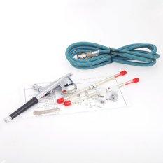 Airbrush Kit 0.25-0.3Mm Dual-Action Spray Gun Air Brush Set Forbody Paint Makeup Craft Cake Toy Models - Intl