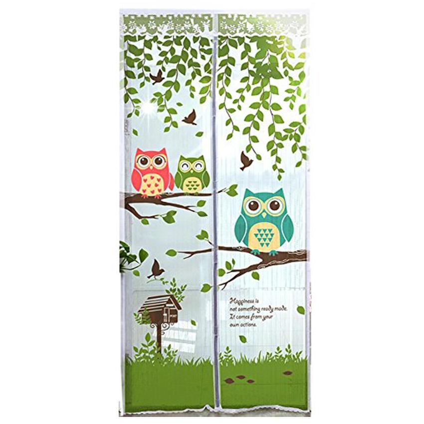 Anti Nyamuk Motif Owl Tirai Pintu Magnet Ungu Source .