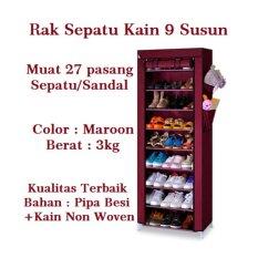 Allunique Rak Sepatu Portable 10 Susun / Shoe Rack with Dust Cover - Marron