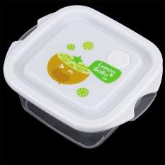 Allwin 3pcs Set Square Crisper Microwave Ware Food Storage Containers Fresh Case Transparent