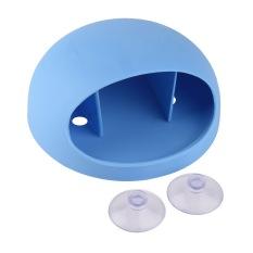 Allwin Home Bathroom Toothbrush Wall Mount Holder Sucker Suction Cups Organizer Blue