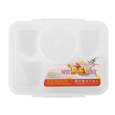 Allwin Portable Microwave Lunch Box For Kids 5 + 1 Food Container Plastic Food Box - Intl
