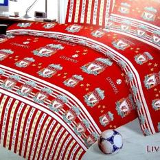 Alona Ellenov Sprei + Rumbai Katun Liverpool Red - Merah