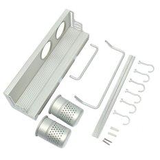 Aluminum Hanging Holder Kitchen Pan Pot Cup Knife Storage Rack Organizer Shelf 40cm