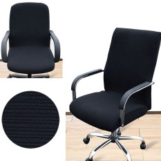 Arm Chair Cover Three Sizes Office Computer Chair Cover Side Zipper Design Recouvre Chaise Stretch Rotating Lift Chair Cover (Not include chair)- intl
