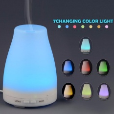 Aromatherapy Essential Oil Diffuser, 120ml Portable Ultrasonic Humidifier, Home Fragrance Diffuser, 7 Color Changing Night Light for Bedroom, Baby Room, Office - intl
