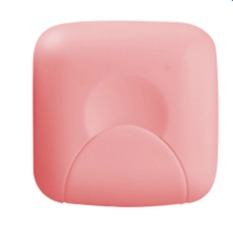 Bathroom Soap Box Soap Dishes Lid with Lock Small Size Pink (S) (Intl)