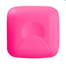 Bathroom Soap Box Soap Dishes Lid with Lock Small Size Rosered (S) (Intl)