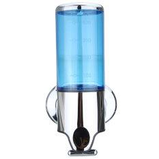 Bathroom Wall Mount Soap Dispenser Liquid Foam Lotion Bottle Case Shampoo Shower Blue (Intl)