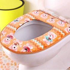 Bear Pattern Bathroom Warmer Washable Bidet Toilet Seat (Brown) (Intl)