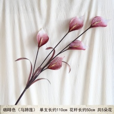 Bergaya Eropa lantai ruang tamu bunga buatan calla lily bunga