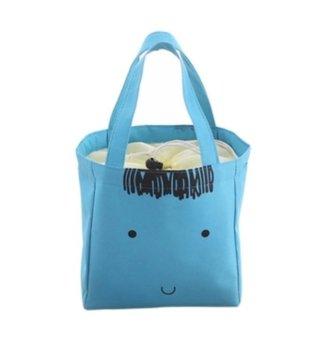 Best Animal Kartun - Lunch Bag Cooler Bag Tas Bekal Makan Bonus Jelly Ice Cooler - Biru