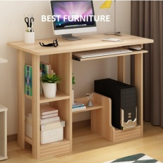 Best Cooldesk Meja Komputer Meja belajar Multifungsi uk 90x43 - Kayu Oak