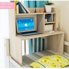 Best Mini Desk Meja Laptop, Belajar dan Rak Multifungsi - Kayu Oak