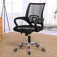 Best Seller Office Kursi Kantor Staff Kursi Komputer - Deep Black