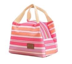 Best Strip-Lunch Bag Cooler Bag Tas Bekal Makan - Hotpink