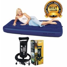 Bestway Kasur Angin Single - Blue + Bestway Pompa Angin 12