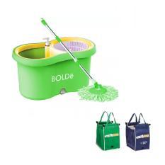 Bolde Super Mop Alat Pel Otomatis M-169X Plus - Hijau Bundling Grab Bag Kantong Belanja Serbaguna - 1 pcs - Random Colour