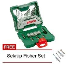 Bosch 33-piece X-Line set Mata Bor dan Mata Obeng Kombinasi - Hijau + Gratis Sekrup