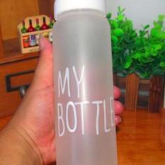 Botol Minuman Botol BPA Free Botol Infus Botol Korea, Botol Olahraga My Bottle Buram + Bag + Box [Putih] (White)