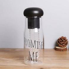 Botol Minuman Botol BPA Free Botol Infus Botol Korea Botol Plastik Bening Botol Olahraga My Bottle Promise Me [Hitam] (Black)