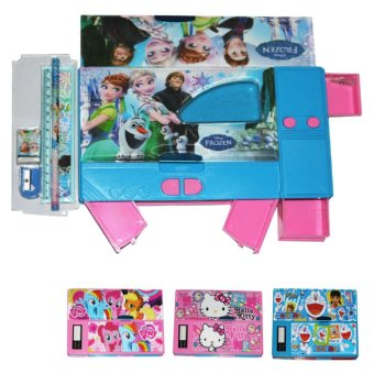 Box Pensil Set JUMBO / Disney FROZEN Kotak Pensil 3D Import Birru