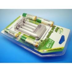 BTY-809 baterai charger+2Baterai AA+2Baterai AAA