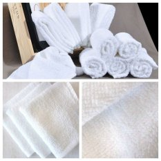 Buy 1 Get 3 Free !!!!! White Towel Handuk Hotel Polos Wajah Sports / Lap Handuk Putih 30x30