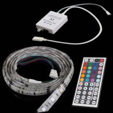 BUYINCOINS 5M 5050 SMD RGB Waterproof 300 LED Strip Light + 44Key IR Remote Controller