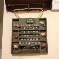 BUYINCOINS Vintage American Country Style Hanging Wall Calendar Wood Home Decor Cute